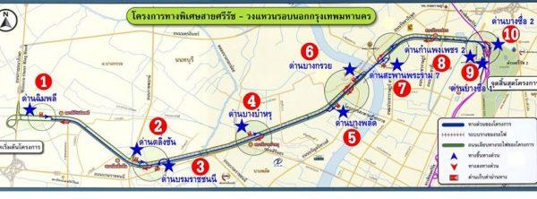 แผงที่ทางด่วนสายศรีรัช - วงแหวนรอบนอกกรุงเทพมหานคร